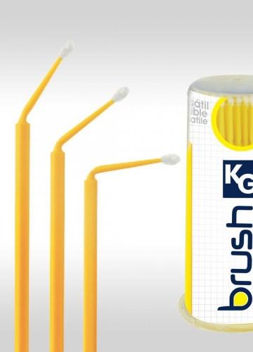 Detalhes do produto Aplicador KG Brush Amarelo 100un